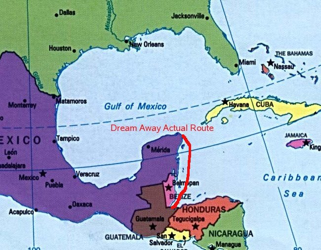 Isla Mujeres Mexico To Livingston Guatemala - Us map with mexico before