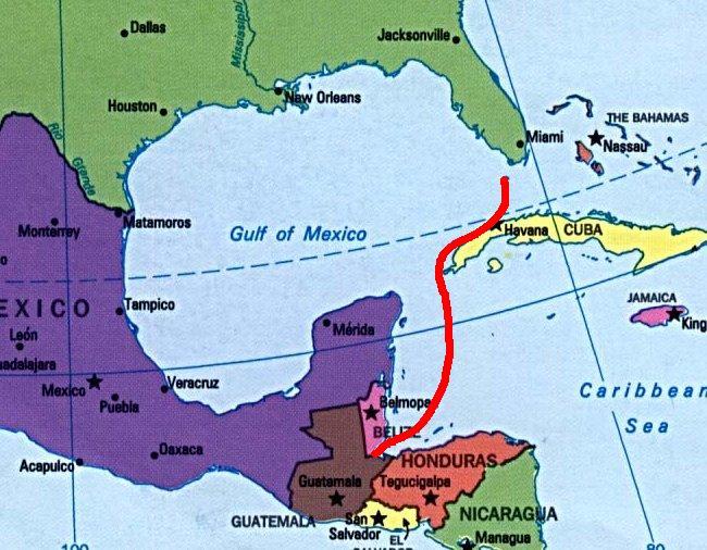Guatemala Usa Map