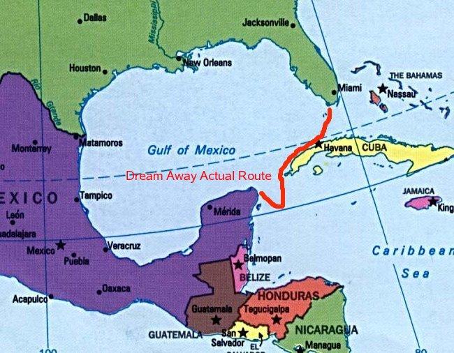 Mexico Florida Map.Marathon Florida To Isla Mujeres Mexico